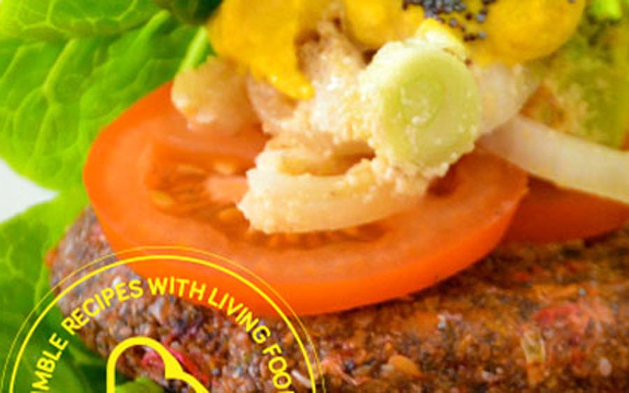 rawmburguesas con aros de cebolla al queso - kijimunas kitchen - consol rodriguez - reverde